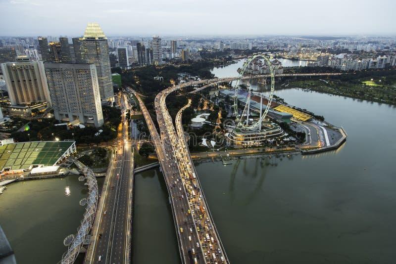 Ιπτάμενο της Σιγκαπούρης στοκ εικόνες με δικαίωμα ελεύθερης χρήσης