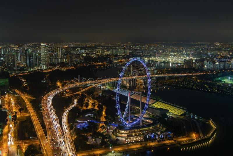 Ιπτάμενο της Σιγκαπούρης στοκ φωτογραφία με δικαίωμα ελεύθερης χρήσης