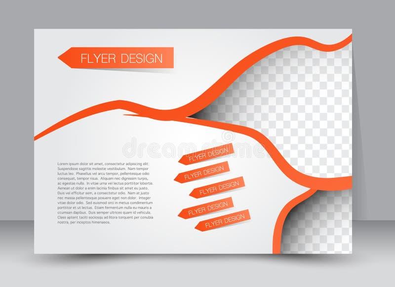 Ιπτάμενο, φυλλάδιο, προσανατολισμός τοπίων σχεδίου προτύπων κάλυψης περιοδικών απεικόνιση αποθεμάτων