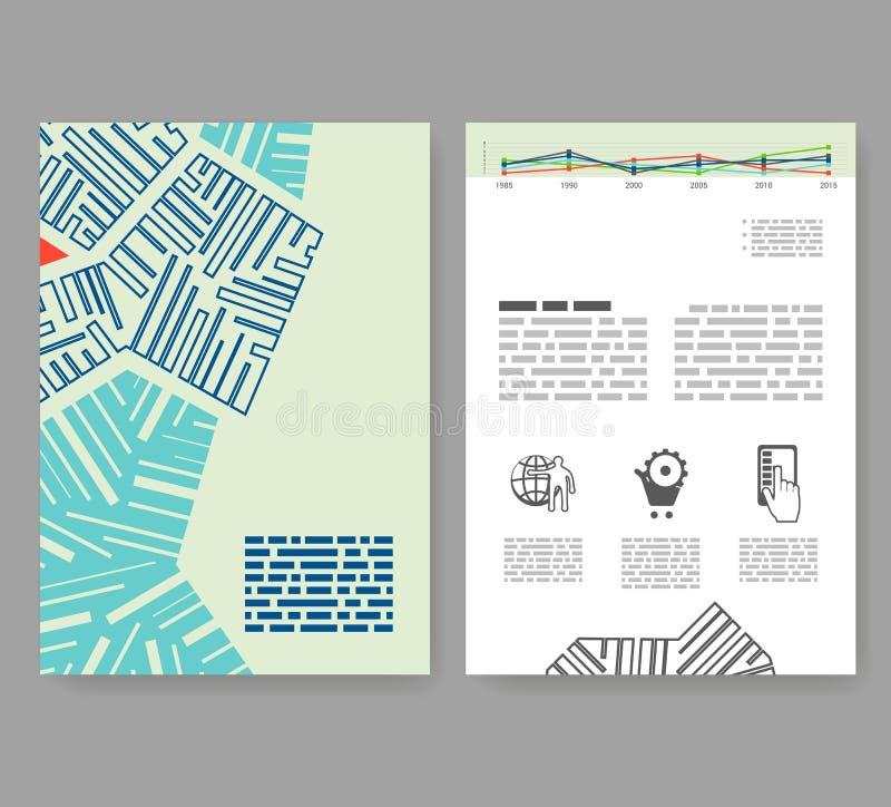 Ιπτάμενο, φυλλάδιο, σχεδιάγραμμα βιβλιάριων Πρότυπο σχεδίου Editable A4 ελεύθερη απεικόνιση δικαιώματος