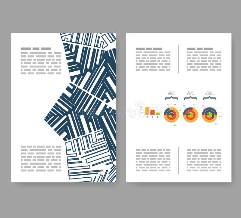 Ιπτάμενο, φυλλάδιο, σχεδιάγραμμα βιβλιάριων Πρότυπο σχεδίου Editable A4 απεικόνιση αποθεμάτων