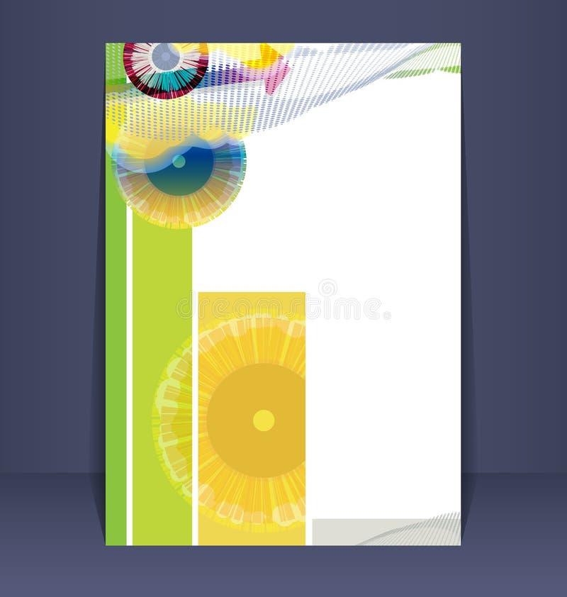Ιπτάμενο, φυλλάδιο, σχεδιάγραμμα βιβλιάριων ελεύθερη απεικόνιση δικαιώματος