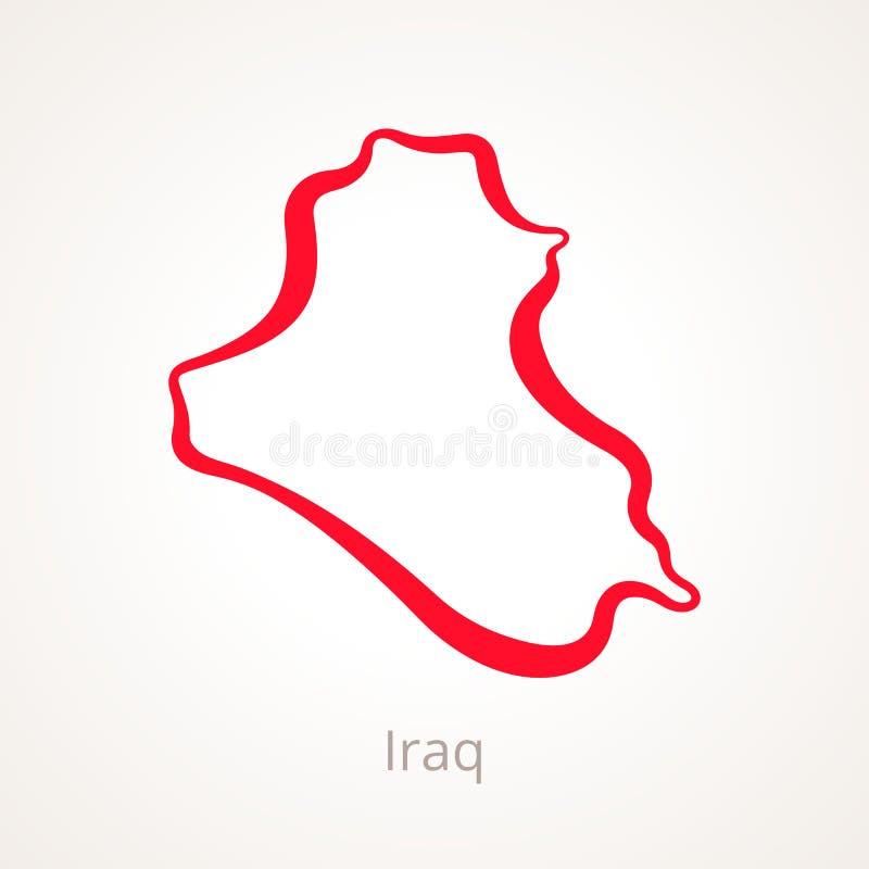 Ιράκ - χάρτης περιλήψεων ελεύθερη απεικόνιση δικαιώματος