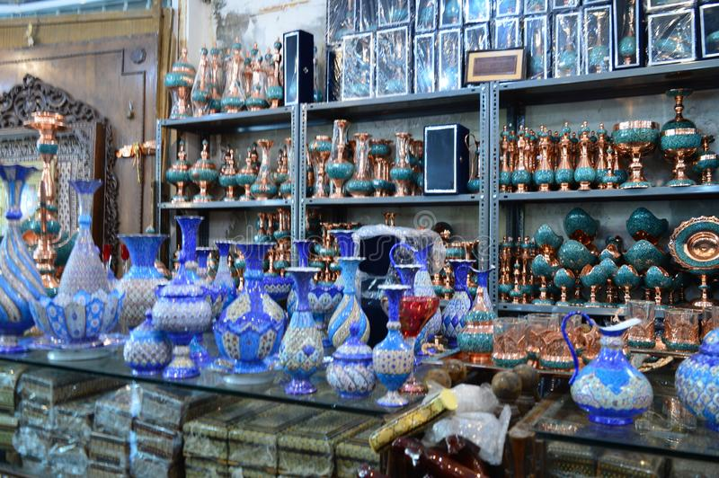 Ιράν Ένα μικρό κατάστημα αναμνηστικών στοκ φωτογραφία με δικαίωμα ελεύθερης χρήσης