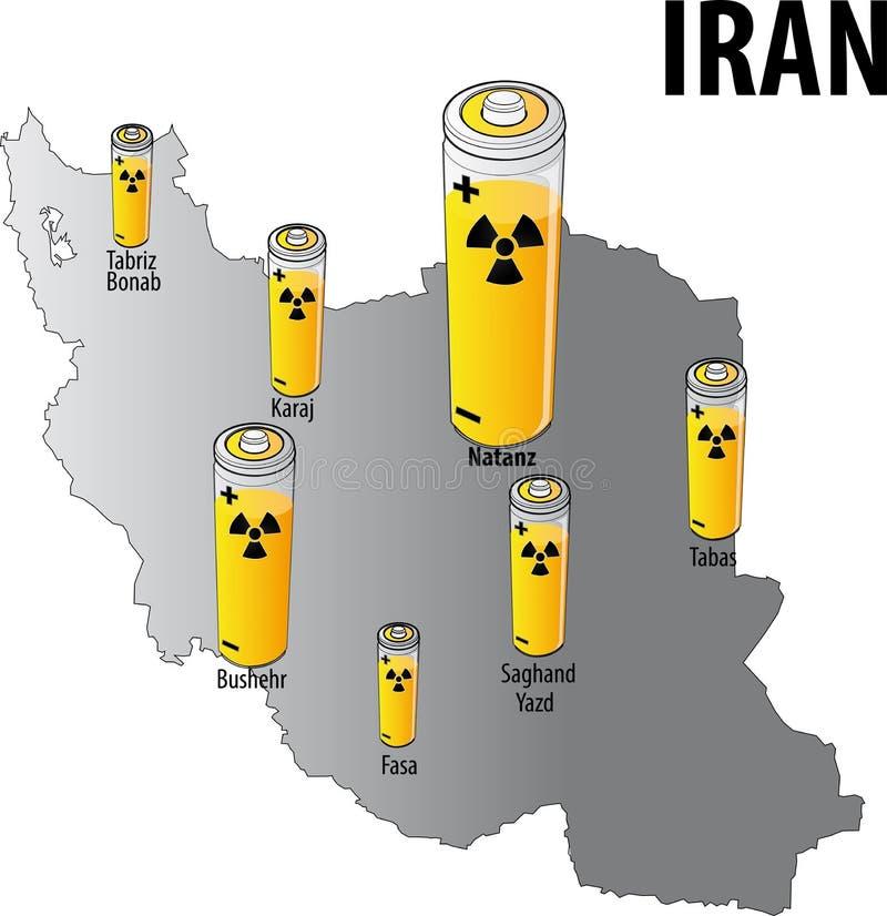 Ιράν πυρηνικό διανυσματική απεικόνιση