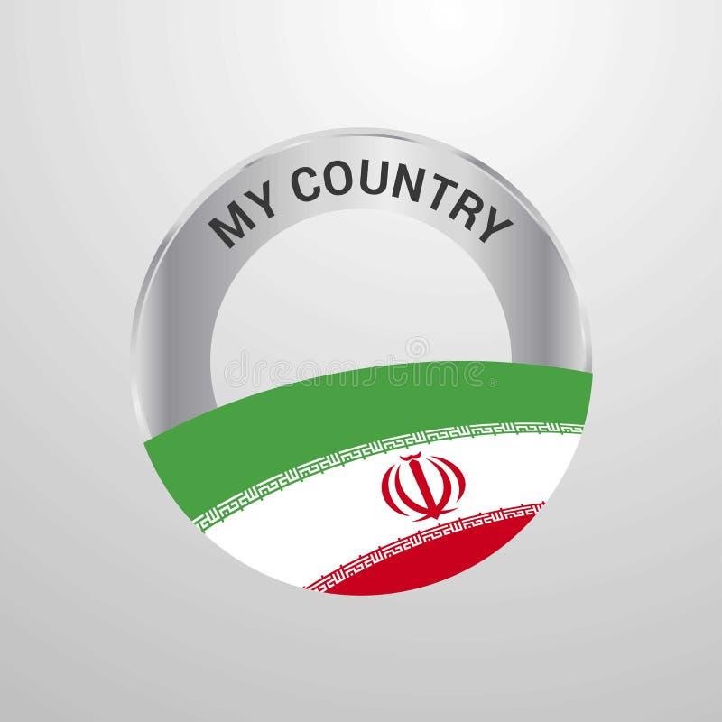 Ιράν το διακριτικό σημαιών χώρας μου ελεύθερη απεικόνιση δικαιώματος