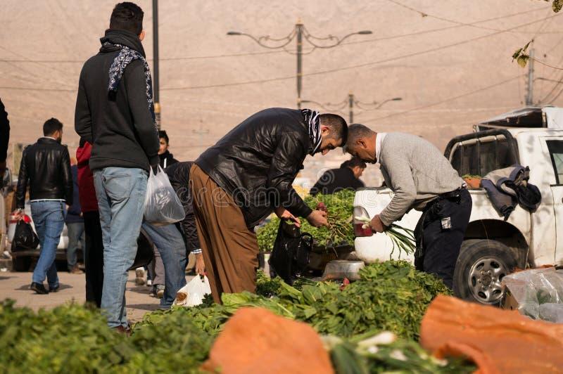 Ιρακινός βγάζει φύλλα τον πωλητή στοκ εικόνα