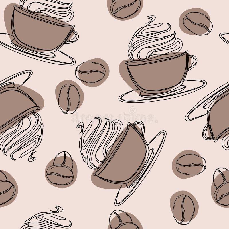 Ιρλανδική κούπα γυαλιού με γεμισμένο το άχυρο κρύο glace οριζόντια διανυσματικό Κατεψυγμένο ποτό ενδυνάμωσης με την καφεΐνη Καφές απεικόνιση αποθεμάτων