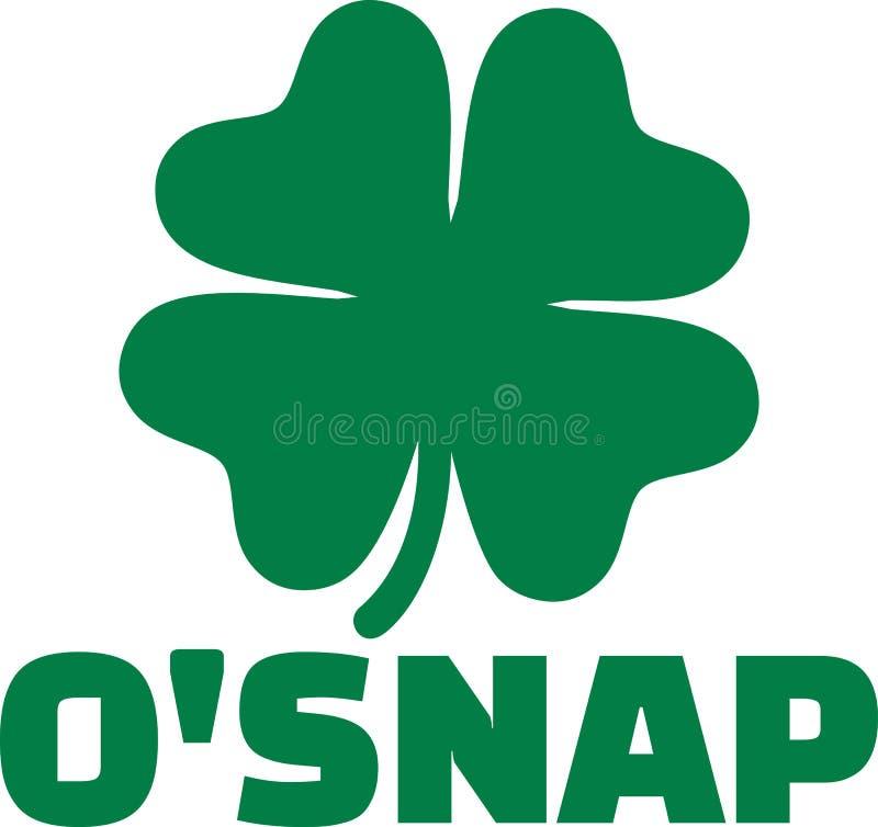 Ιρλανδικό αστείο όνομα - θραύση Ο ` διανυσματική απεικόνιση