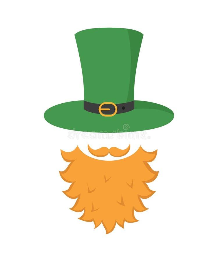 ιρλανδικό εικονίδιο leprechaun Έννοια ημέρας Αγίου Πάτρικ ` s διανυσματική απεικόνιση