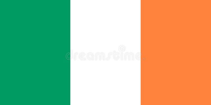 Ιρλανδική σημαία διανυσματική απεικόνιση