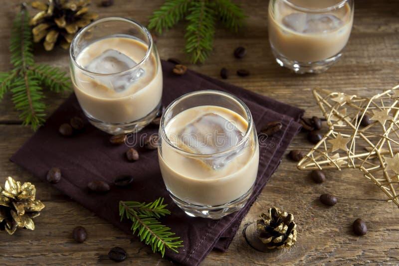 Ιρλανδικό ηδύποτο καφέ κρέμας στοκ φωτογραφία