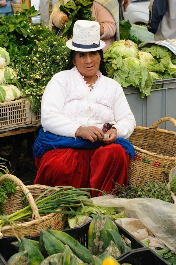 Ισημερινός, εθνική λατινική γυναίκα στοκ φωτογραφία