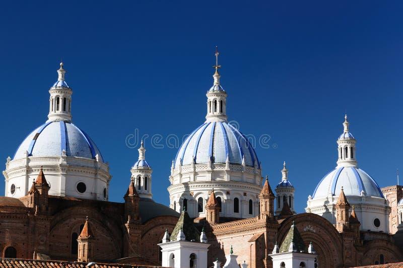 Ισημερινός, όψη στον καλυμμένο δια θόλου καθεδρικό ναό Cuenca στοκ εικόνες με δικαίωμα ελεύθερης χρήσης