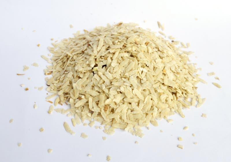 Ισιωμένο ρύζι που απομονώνεται στοκ φωτογραφία με δικαίωμα ελεύθερης χρήσης