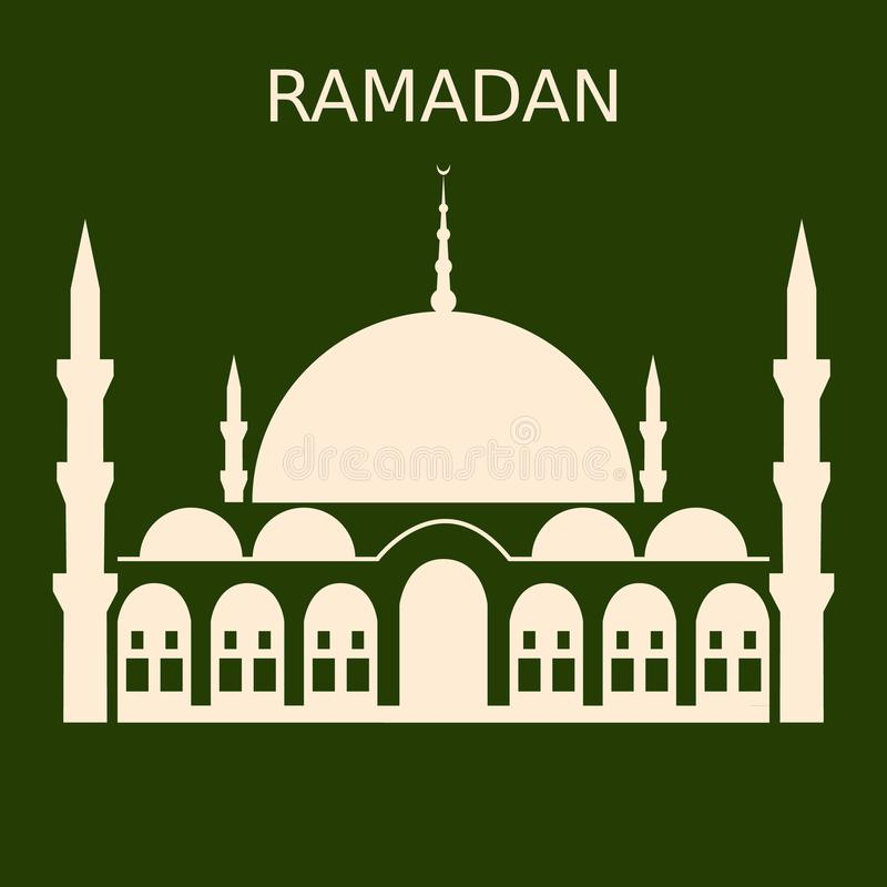 Ισλαμική σκιαγραφία θόλων μουσουλμανικών τεμενών σχεδίου του Kareem Ramadan με το αραβικό σχέδιο απεικόνιση αποθεμάτων