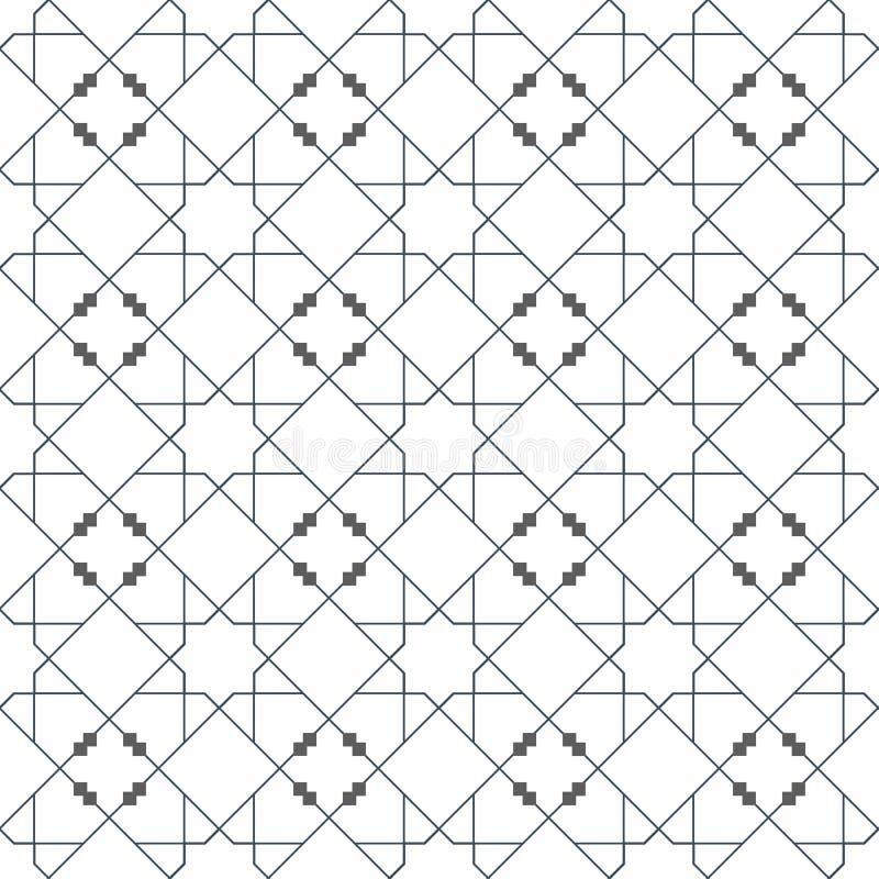 Ισλαμικό άνευ ραφής διανυσματικό σχέδιο Γεωμετρικές διακοσμήσεις βασισμένες στην παραδοσιακή αραβική τέχνη Ασιατικό μουσουλμανικό διανυσματική απεικόνιση