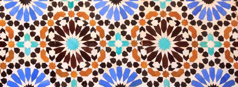 Ισλαμικό μαροκινό ύφος μωσαϊκών χρήσιμο ως υπόβαθρο στοκ εικόνες με δικαίωμα ελεύθερης χρήσης