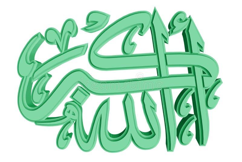 ισλαμικό σύμβολο προσευχής 72 διανυσματική απεικόνιση
