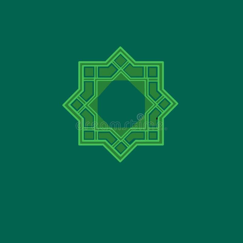 Ισλαμικό geomatric σχέδιο μοτίβου ελεύθερη απεικόνιση δικαιώματος