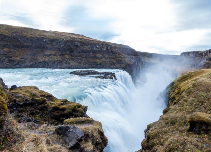 Ισλανδία - δυνατό Gulfoss στοκ εικόνες με δικαίωμα ελεύθερης χρήσης