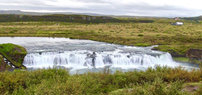 Ισλανδία, καταρράκτης πλησίον από το χρυσό κύκλο στοκ φωτογραφία