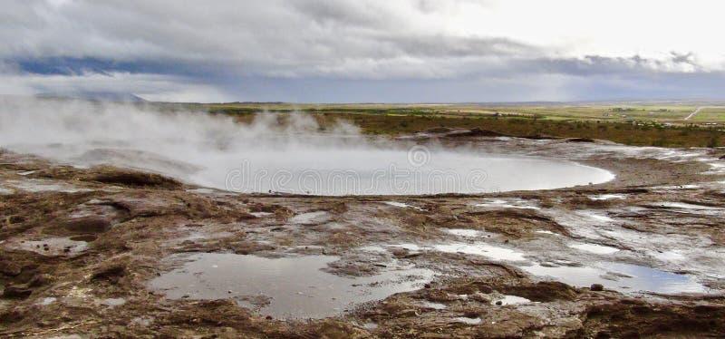 Ισλανδία, χρυσός κύκλος, Gejsir Gejsir στοκ φωτογραφίες