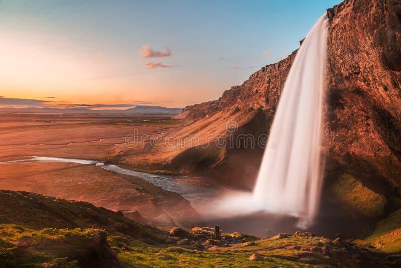 Ισλανδία seljalandsfoss στοκ εικόνες