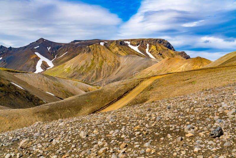 Ισλανδικό τοπίο του όμορφου βουνού με το χιόνι στοκ εικόνες