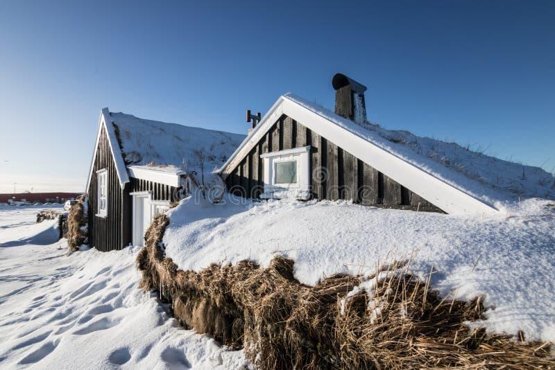 Ισλανδικό χαρακτηριστικό σπίτι Stekkjarkot στοκ φωτογραφία με δικαίωμα ελεύθερης χρήσης