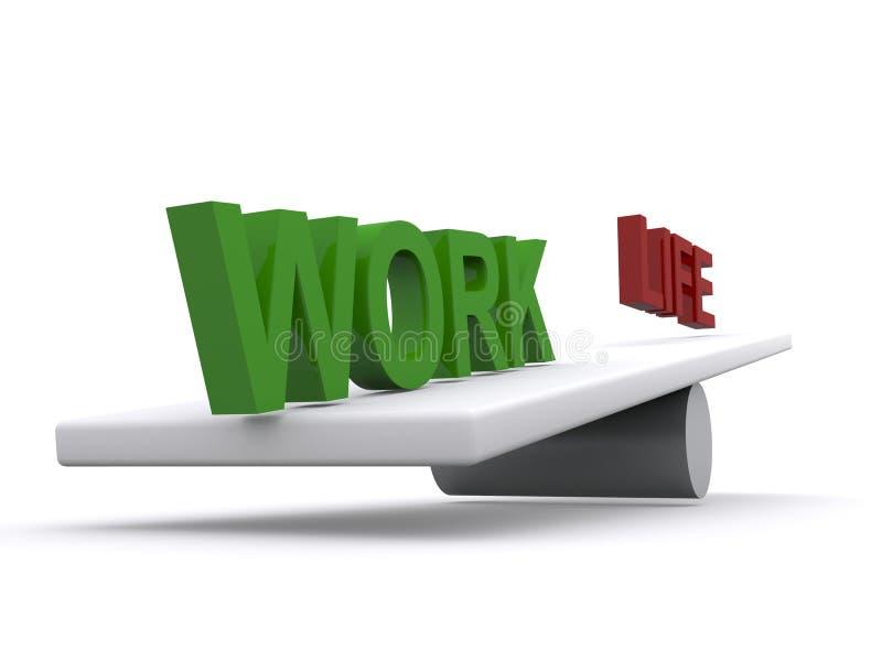 Ισορροπία ζωής εργασίας ελεύθερη απεικόνιση δικαιώματος
