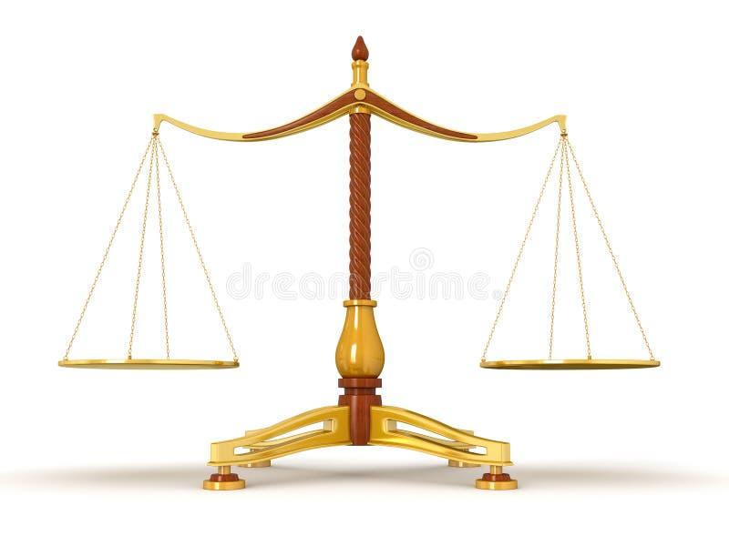 Ισορροπία δικαιοσύνης (πορεία ψαλιδίσματος συμπεριλαμβανόμενη) ελεύθερη απεικόνιση δικαιώματος