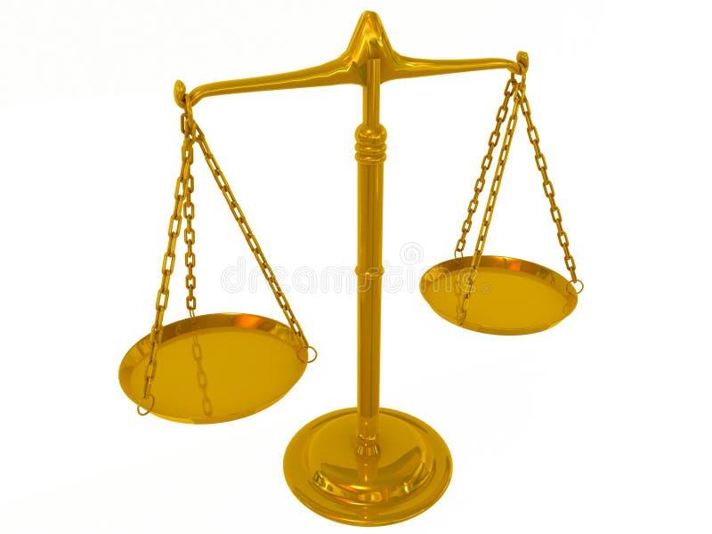 ισορροπία χρυσή διανυσματική απεικόνιση