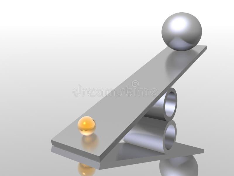 ισορροπία διανυσματική απεικόνιση