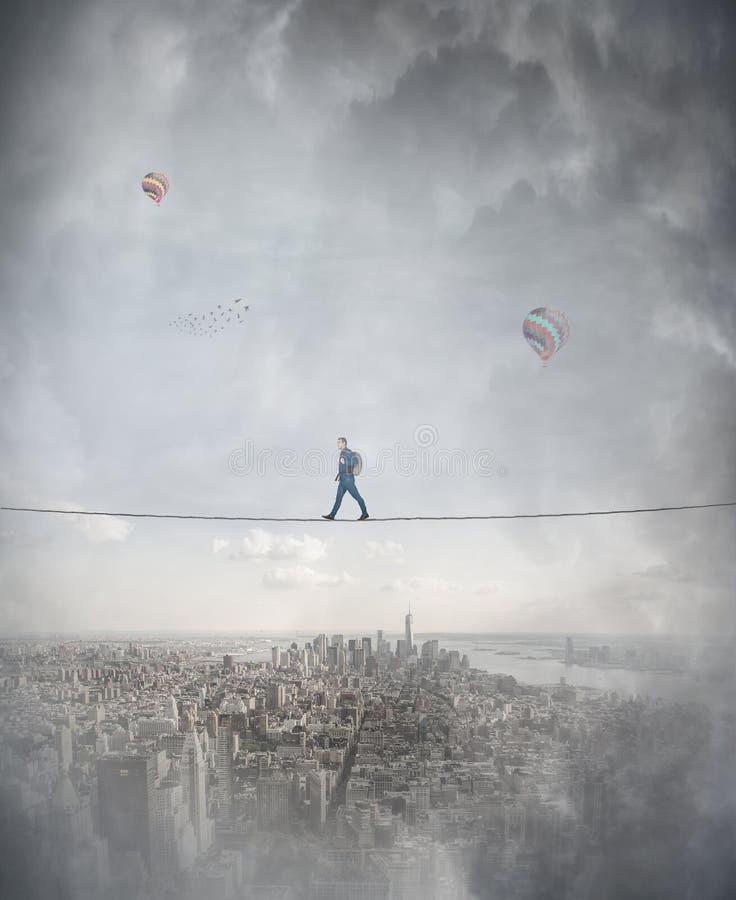 Ισορροπία Slackline στοκ φωτογραφίες