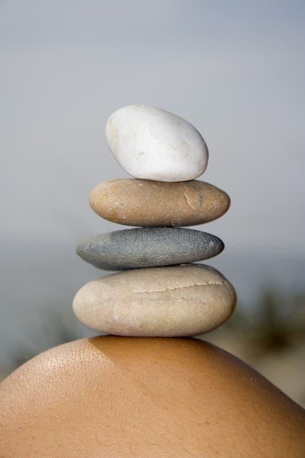 ισορροπημένες πέτρες άμμου σωρών στοκ φωτογραφία με δικαίωμα ελεύθερης χρήσης