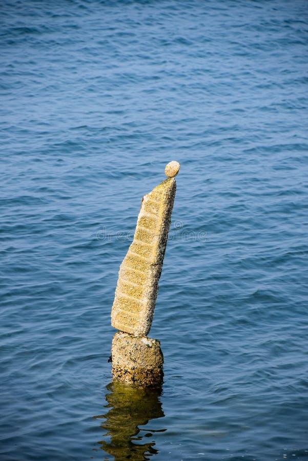 Ισορροπημένοι βράχοι στον τρόπο Ruston στην Ουάσιγκτον στοκ εικόνα