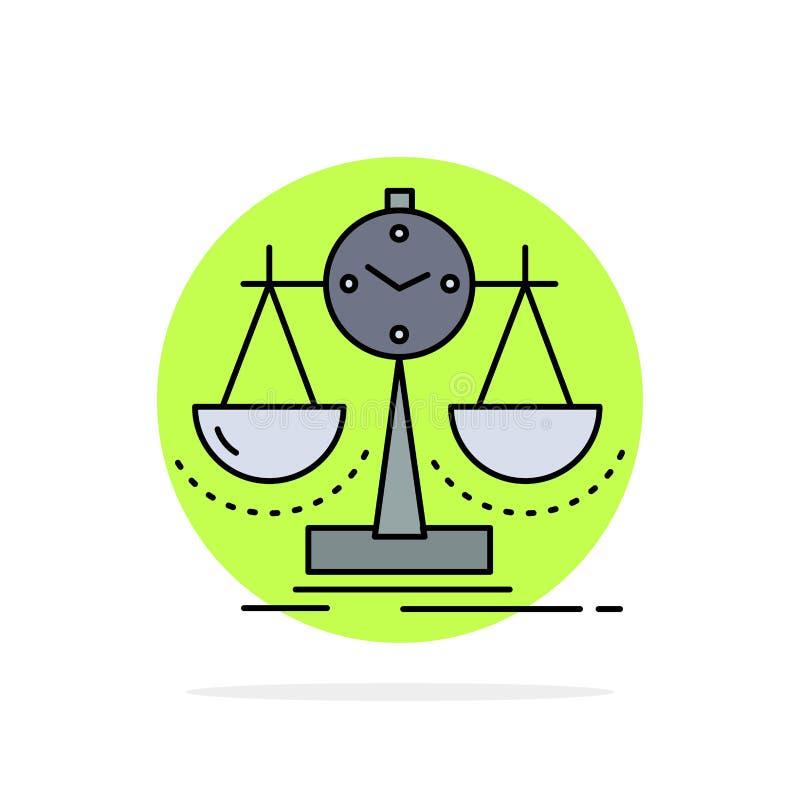 Ισορροπημένος, διαχείριση, μέτρο, scorecard, επίπεδο διάνυσμα εικονιδίων χρώματος στρατηγικής ελεύθερη απεικόνιση δικαιώματος
