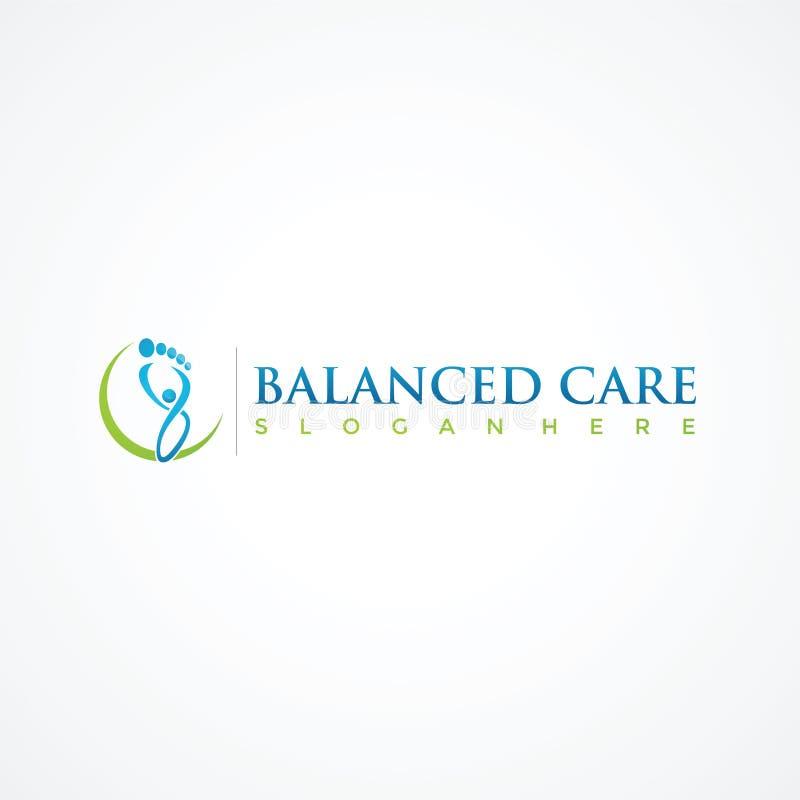 Ισορροπημένο πρότυπο λογότυπων θεραπείας προσοχής Διανυσματικός εικονογράφος EPS 10 διανυσματική απεικόνιση