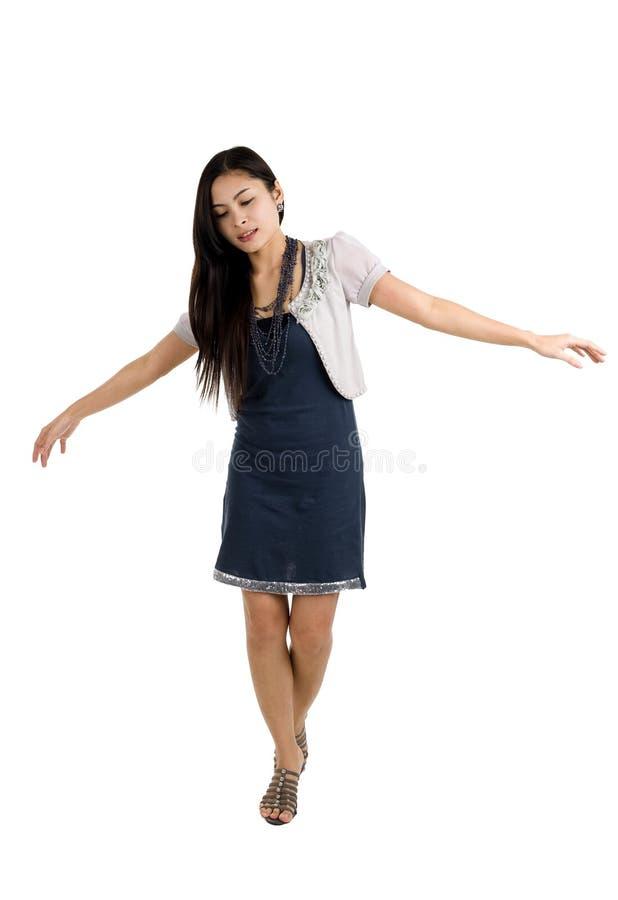 ισορροπώντας γυναίκα στοκ εικόνες