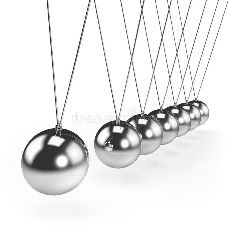 Ισορροπώντας εκκρεμές λίκνων Newton ` s σφαιρών ελεύθερη απεικόνιση δικαιώματος