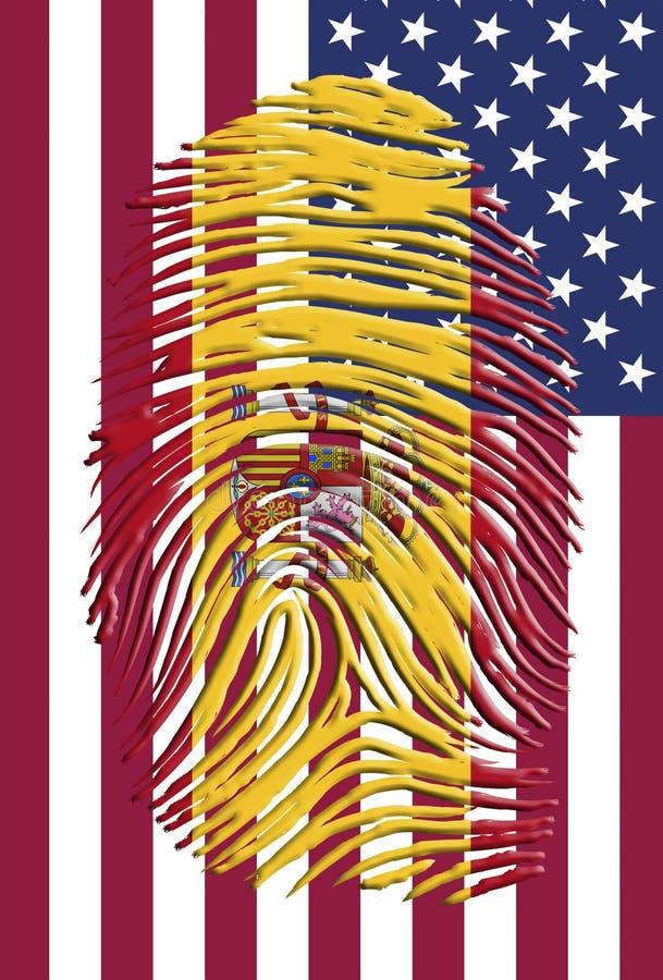 Ισπανία ΗΠΑ διανυσματική απεικόνιση