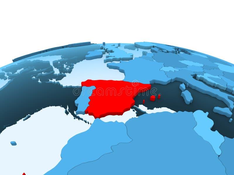 Ισπανία στην μπλε πολιτική σφαίρα απεικόνιση αποθεμάτων