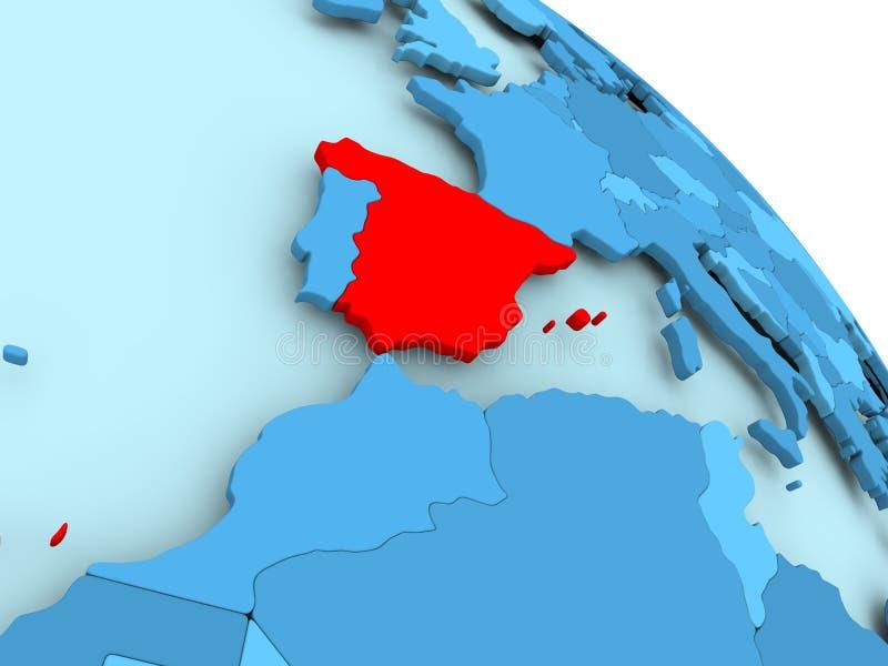 Ισπανία στην μπλε σφαίρα ελεύθερη απεικόνιση δικαιώματος