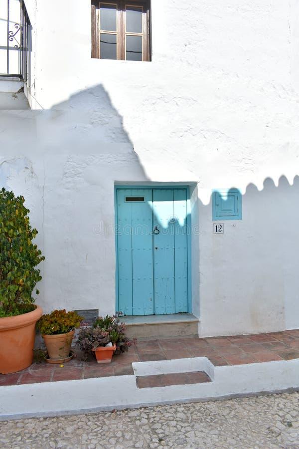 Ισπανία το χωριό Frigiliana Ένα παραδοσιακό δημαρχείο στοκ εικόνες με δικαίωμα ελεύθερης χρήσης