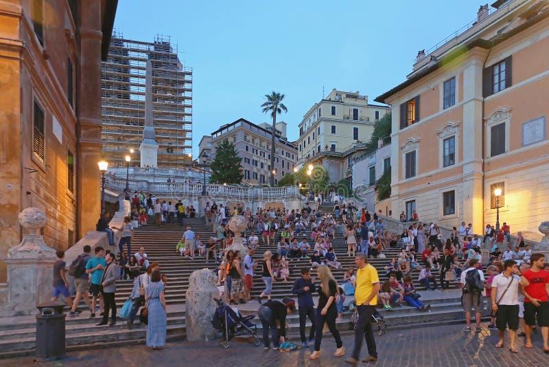 Ισπανικά βήματα Ρώμη στοκ εικόνες