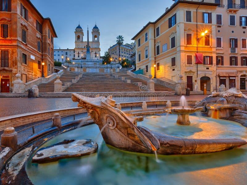 Ισπανικά βήματα στο σούρουπο, Ρώμη στοκ φωτογραφίες με δικαίωμα ελεύθερης χρήσης