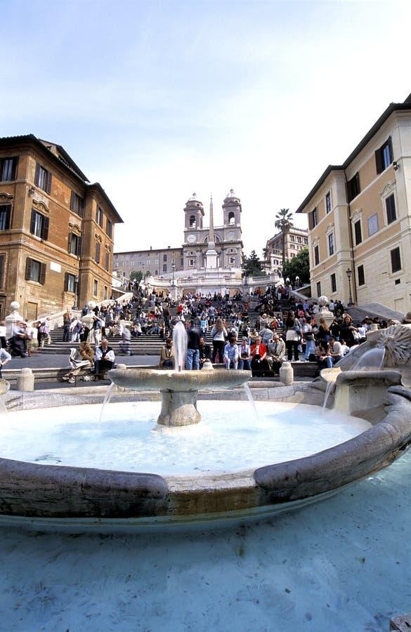 ισπανικά βήματα της Ρώμης στοκ φωτογραφία με δικαίωμα ελεύθερης χρήσης