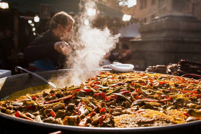 Ισπανικά παραδοσιακά τρόφιμα Βαλένθια Paella στοκ εικόνα
