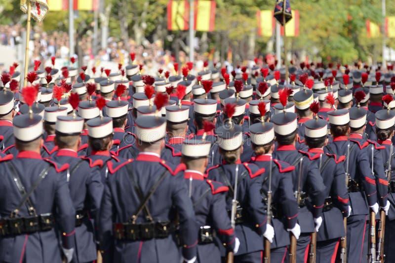 Ισπανική βασιλική φρουρά στην παρέλαση στοκ φωτογραφία με δικαίωμα ελεύθερης χρήσης